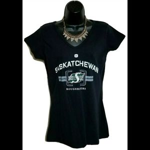 NWT VTG Saskatchewan Roughriders CFL Shirt S/S L